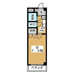 フォーレストユイ[3階]の間取り