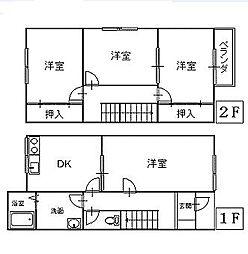 [テラスハウス] 青森県八戸市石堂2丁目 の賃貸【青森県 / 八戸市】の間取り