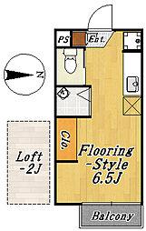 フローラ4[2階]の間取り