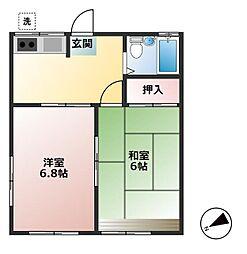 東京都足立区伊興5丁目の賃貸マンションの間取り