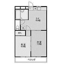 ミツコマンション[3階]の間取り