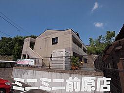 福岡県糸島市荻浦の賃貸アパートの外観