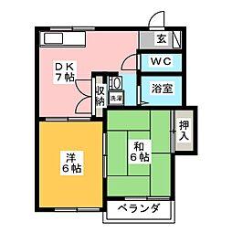 ハイツJP[2階]の間取り