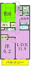 千葉県松戸市東松戸3丁目の賃貸マンションの間取り
