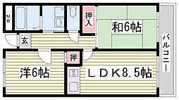 アイマンション長尾[2階]の間取り