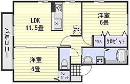 ファイブ・ツー(川内)[2階]の間取り