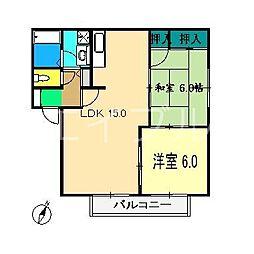 ハイツサバイ[1階]の間取り