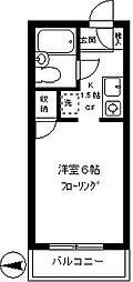 メンゼイル柿木[302号室]の間取り