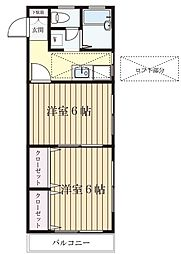 メゾン菅生台[205号室]の間取り