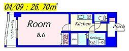 MNK-5[208号室]の間取り