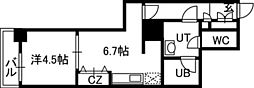 PRIME URBAN札幌 RIVER FRONT[509号室]の間取り