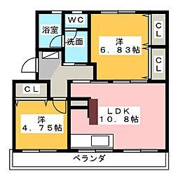 高木グリーンハイツ[1階]の間取り