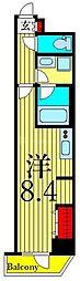 東京メトロ日比谷線 入谷駅 徒歩7分の賃貸マンション 4階ワンルームの間取り