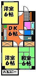 カネナカ第5ビル[205号室]の間取り