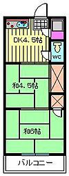 プチメゾン蕨[305号室]の間取り