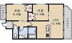 Crescent[4階]の間取り