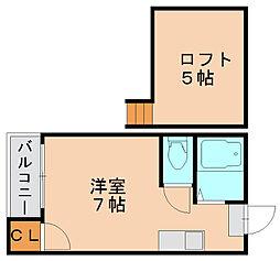エスポワール博多II[2階]の間取り