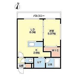 札幌市営南北線 北24条駅 徒歩5分の賃貸マンション 4階1LDKの間取り