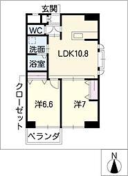 葵21ビル[2階]の間取り