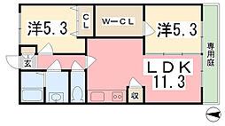 プロシード御立[105号室]の間取り