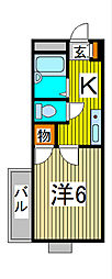 スクエアII[2階]の間取り