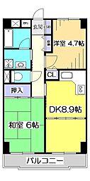T's garden HITOTSUBASHI GAKUEN[3階]の間取り