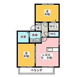 ウッドストック[1階]の間取り
