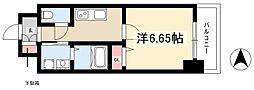 第18金山フクマルビル 8階1Kの間取り