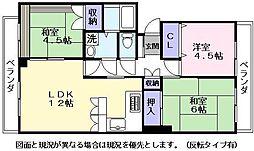 ホワイトハイツ壱番館[2階]の間取り