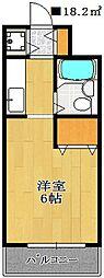 スカイハイム津田沼[1階]の間取り