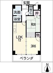 マ・メゾン代官[5階]の間取り