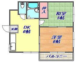 兵庫県神戸市灘区船寺通5丁目の賃貸マンションの間取り