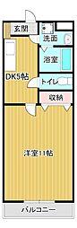 静岡県浜松市中区和合北3丁目の賃貸マンションの間取り