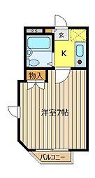 埼玉県富士見市東みずほ台2丁目の賃貸マンションの間取り