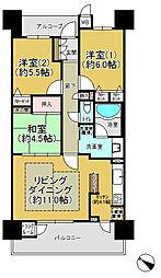 プレミスト日根野駅前ザ・フォルテージ[12階]の間取り