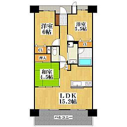 KDXレジデンス守口[3階]の間取り