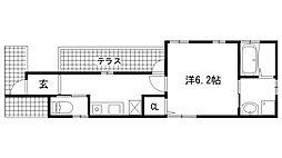 兵庫県神戸市灘区六甲町4丁目の賃貸アパートの間取り