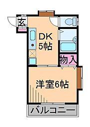 第7シバタハウス[1階]の間取り