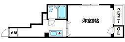プラザ船越[5階]の間取り