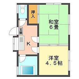 東京都江戸川区南小岩3丁目の賃貸アパートの間取り