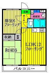 パークサイドアキマ[1−B号室号室]の間取り