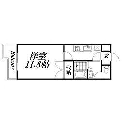 静岡県浜松市西区志都呂町1丁目の賃貸アパートの間取り