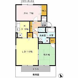ラ・フォーレA棟[1階]の間取り
