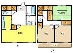 [テラスハウス] 愛知県名古屋市名東区勢子坊4丁目 の賃貸【/】の間取り