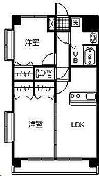 レザンス波島[3階]の間取り