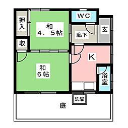 アラエ借家[1階]の間取り