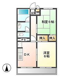 臼井ビル[4階]の間取り