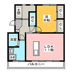 庄幸マンション[3階]の間取り