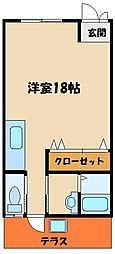 ハイツフジ[1階]の間取り