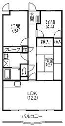 マ・メゾン蜆塚[402号室]の間取り